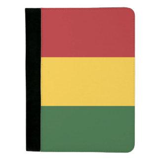 緑の黄色い赤のストライプパターン パッドフォリオ