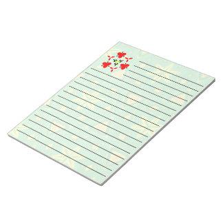 緑の黄色の抽象芸術パターン ノートパッド