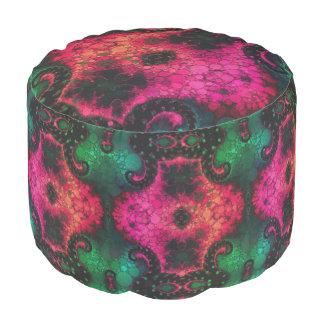 緑の黒いピンクの抽象芸術 プーフ