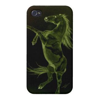 緑の黒い馬の養育iphone 4ケース iPhone 4 ケース