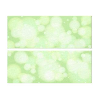 緑の《写真》ぼけ味の円の抽象美術 キャンバスプリント