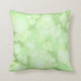 緑の《写真》ぼけ味の円 クッション