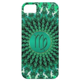 緑の(占星術の)十二宮図の印の《星座》乙女座のフラクタルの曼荼羅 iPhone SE/5/5s ケース