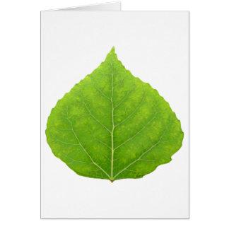 緑の《植物》アスペンの葉#11 カード