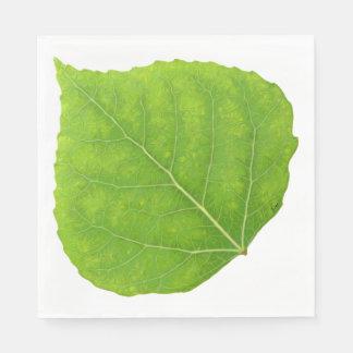 緑の《植物》アスペンの葉#11 スタンダードランチョンナプキン