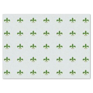 緑の(紋章の)フラ・ダ・リの軽い背景 薄葉紙