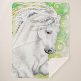 緑のAndalusian馬 シェルパブランケット