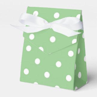緑のAppleの水玉模様のパーティの記念品箱 フェイバーボックス
