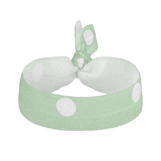 緑のAppleの水玉模様のヘアタイ ヘアタイ