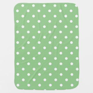 緑のAppleの水玉模様のベビーブランケット ベビー ブランケット