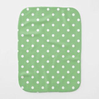 緑のAppleの水玉模様のベビー用バーブクロス バープクロス
