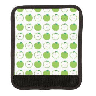 緑のAppleパターンラゲージハンドルラップ ラゲッジ ハンドルラップ