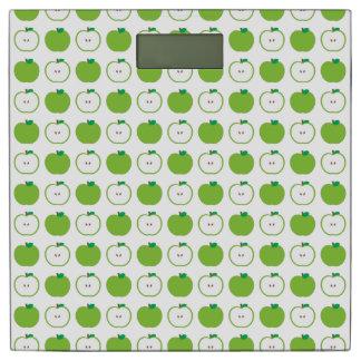 緑のAppleパターン体重計 体重計