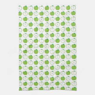 緑のAppleパターン台所タオル キッチンタオル