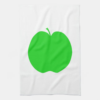 緑のApple キッチンタオル
