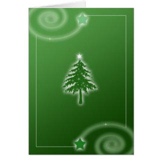 緑のChirstmasの木カード カード