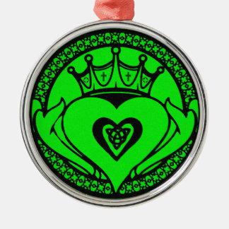 緑のCladdagh メタルオーナメント