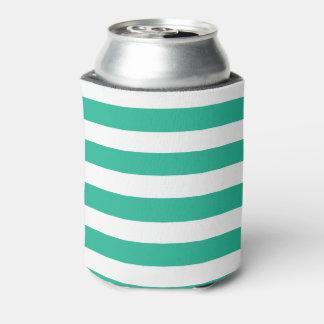 緑のDeckchairは縞で飾ります 缶クーラー
