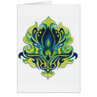 緑のdecoの花 カード