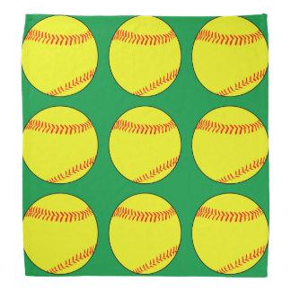 緑のFastpitchのソフトボールのバンダナ バンダナ