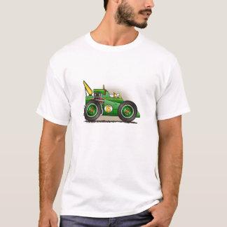 緑のIndyのレースカーの服装 Tシャツ