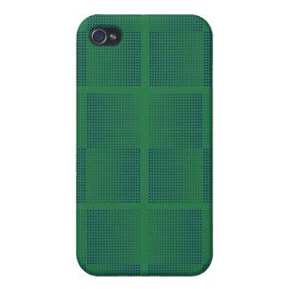 緑のiPad 4の箱の点々のあるな網 iPhone 4/4S Case