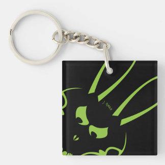 緑のJ. Rabbit Logo Keychain キーホルダー