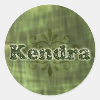 緑のKendra ラウンドシール