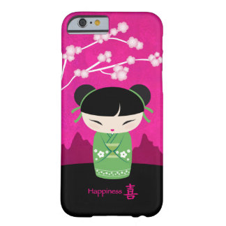 緑のKokeshi -幸福 Barely There iPhone 6 ケース