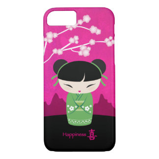 緑のKokeshi -幸福 iPhone 8/7ケース