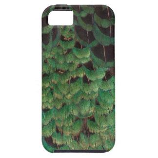 緑のMelanisticのキジの羽 iPhone SE/5/5s ケース