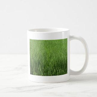 緑のpadiの分野 コーヒーマグカップ
