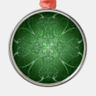 緑のRosetta メタルオーナメント