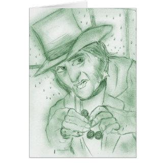 緑のScrooge グリーティングカード