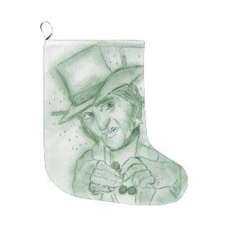 緑のScrooge ラージクリスマスストッキング