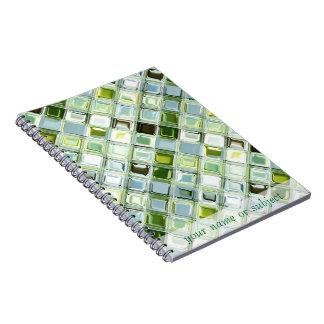 緑のSeaglassのカスタマイズ可能な螺線形ノート ノートブック