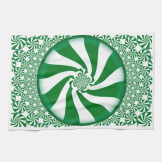 緑のSpearmintキャンデーの台所タオル キッチンタオル