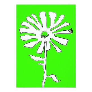 緑のsquiggleの花 カード