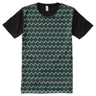 緑のSquiggle オールオーバープリントT シャツ