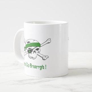 緑のSt patricks dayのジャンボマグの海賊 ジャンボコーヒーマグカップ