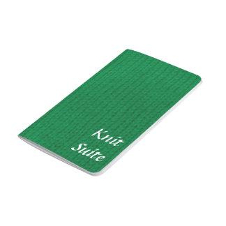 緑のStockinette ポケットジャーナル