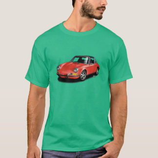 緑のTシャツの赤1972のドイツ人911のスポーツ・カー Tシャツ