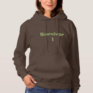 緑のTeの暗いチョコレート生存者1のスエットシャツ パーカ