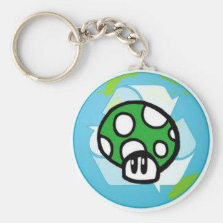 緑のToadstoolの地球のキーホルダー キーホルダー