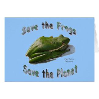 緑のTreefrogsを救って下さい カード