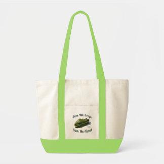 緑のTreefrogsを救って下さい トートバッグ