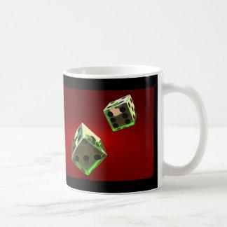 緑はさいの目に切ります コーヒーマグカップ