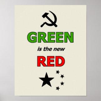 緑はより薄いボーダーが付いている新しく赤いポスターです ポスター