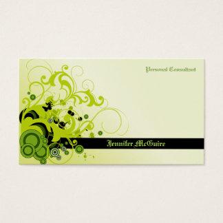 緑はグランジな名刺TBA 3/31/2011渦巻きます 名刺