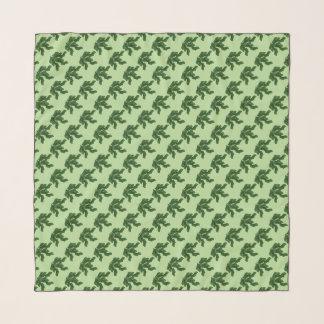緑はパターン薄緑のB/Gのアートワークを残します スカーフ